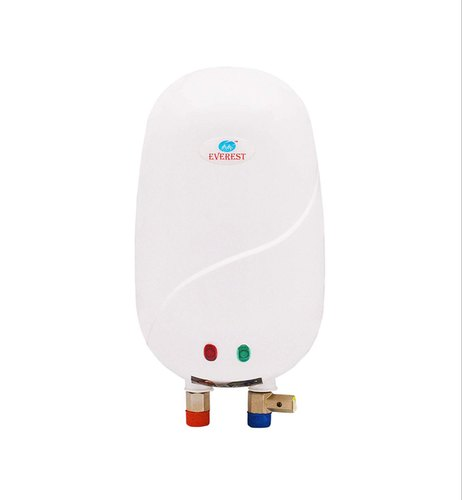 Everest E-Instant 1 Litre Instant Water Heater Attach With Inlet and Outlet Pipe (White Colour)