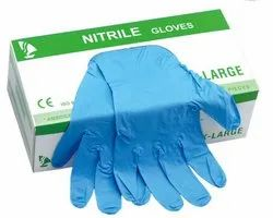 EN 455 280 mm NITRILE EXAMINATION GLOVES (POWDER FREE), Size: 6.5 inches