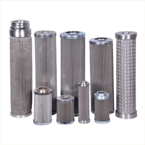 Sintered Non-woven Fiber Felt SS Pleated Filter Cartridge, Cylindrical & Pleated