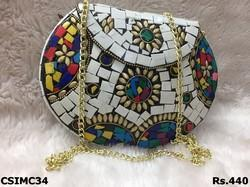 Craftstages International Metal Multi Color Mosaic Clutch