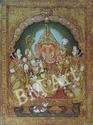 Tanjore God Ganesh Painting