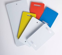 Plastic molded multicolor garment tags