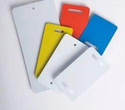 Plastic molded multicolor garment tags