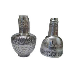 Decorative Silver Bottle, Size: 1500 Ml