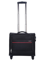 Cosmus Black Overnight Trolley Bag