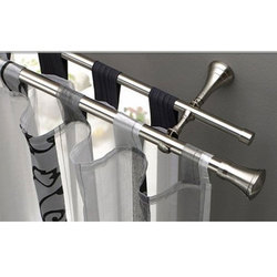 Polished Stainless Steel Curtain Rod, For Home, Office Etc, 1-3 Inch