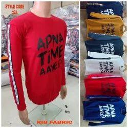 Red Full Sleeves Apna Time Sarfaraz T-Shirt
