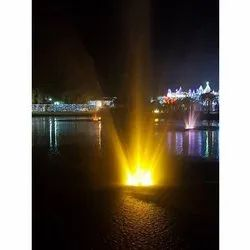 Colored Lake Floating Fountain