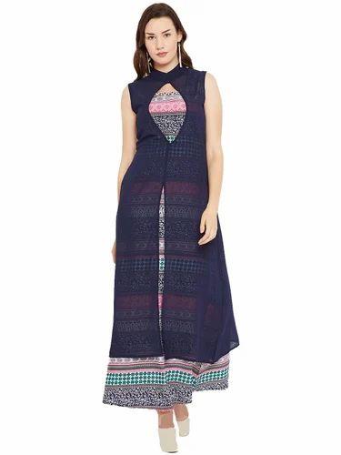 8d6c91f96 Cottinfab Women Georgette Maxi Dress