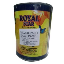 Royal Star Enamel Dual Silver Paint Industrial Paint, Packaging Type: Drum