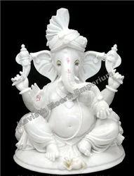 White Marble Ganesha Idol