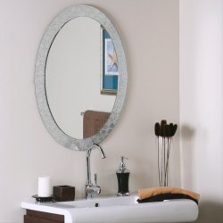 Glass Oval Shape 5 mm Designer Wall Mirror, Packaging Type: Box