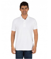 White Unisex Basic Polo T-shirt, Size: Small, Medium, Large, XL