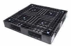 Sanco 4way Entry Black plastic pallet Export, For Storage, Capacity: 2000kg