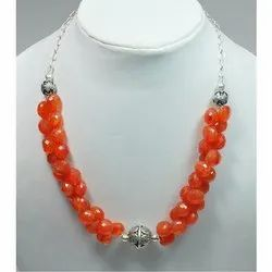 Carnelian 925 Sterling Silver Finished Necklaces