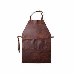 Brown Plain Leather Apron