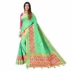 1496 Party Wear Handloom Silk Saree