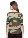 Ladies Round Neck Camouflage T Shirt