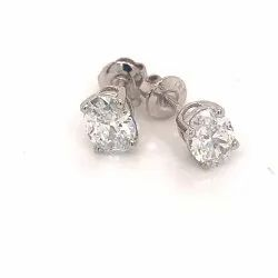 Oval Stud Earrings 0.51ct Each HPHT Lab Grown Diamonds DEF VVS VS