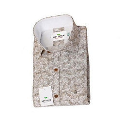 Hot Spice Khadi Mens Party Wear Shirt