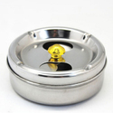 Stainless Steel Round Ashtray Cigarette Holder Ash Tray Organizers