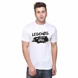 White Mens Printed T Shirt