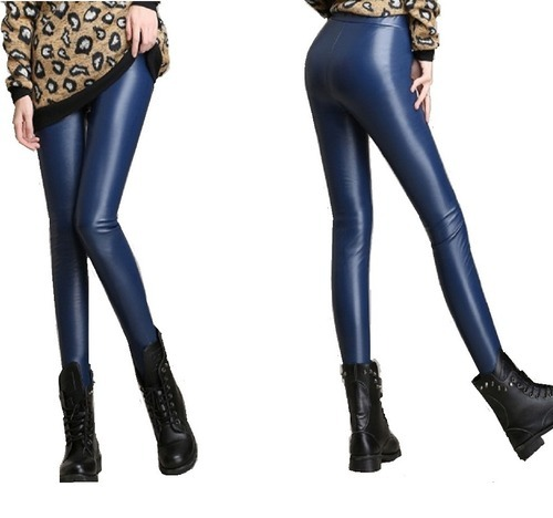 bcb35650e9 Women PU Coated Faux Leather Leggings at Rs 175 /piece   Ankle ...