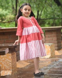 Cotton Frock Kids Wear, Medium