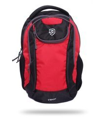 Black And Red College Laptop Backpack