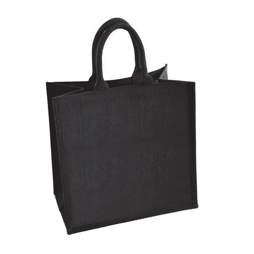 Manufacturer Of Black Jute Bags With Logo Size 32h X 40w 18d