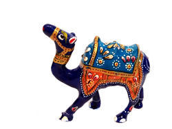 Metal Enamel Camel Meenakari