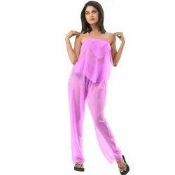 5491005e33 3-Piece Elegant Lavender See Through Pajama Set