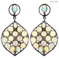 Fashion Silver Opal Gemstone Earring