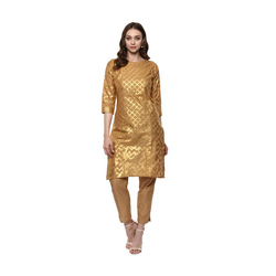 Golden Designer Kurta