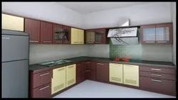 Stainless Steel L Shape MODULAR KITCHEN FABRICATION, Work Provided: Wood Work & Furniture