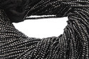 Black Spinel Roundel Beads