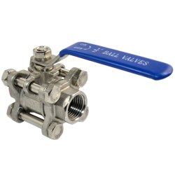 Three Piece Screwed End Full Bore Ball Valve
