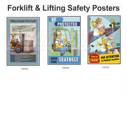 Forklift & Lifting Material Poster