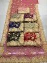 Heavy Work Net Embroidered Saree