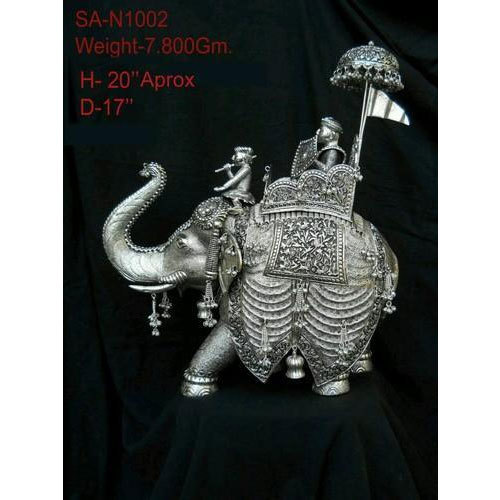 Silver Elephant Statue