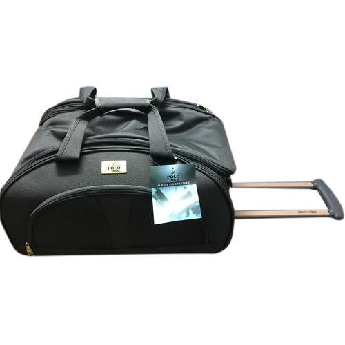 d58c63e4bea5 Polo Shine Two Tone Nylon Fabric Trolley Duffle Bags