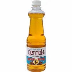500Ml Gennola Kachi Ghani Flaxseed Oil, Packaging Size: 500 Ml