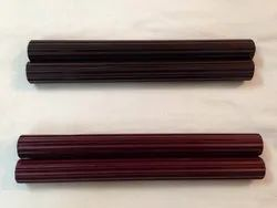Cherry And Brown Mild Steel Powder Coated Fluted Curtain Rod, Packaging Type: Wrapper And Polythene