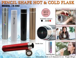 Pencil Shape Hot & Cold Flask H-403