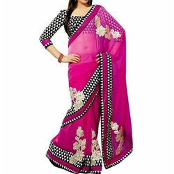 Ladies Georgette Saree, With Blouse Piece