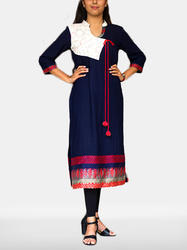 Casual Angrakha Kurti With Applique