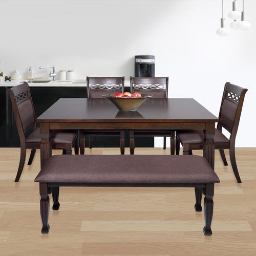 23ff9d2f29 Evok Orli Solid Wood 1 Table 4 Chair 1 Bench Dining Set, Rs 42971 ...
