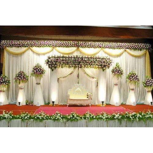 Wedding Flower Decoration Photos: White Flowers Decoration Wedding Stage, For In Wedding, Rs