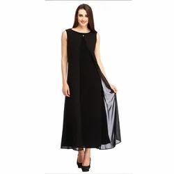 Cottinfab Women's Maxi Black Dress