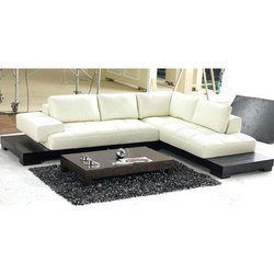 L Shape Wooden Sofa